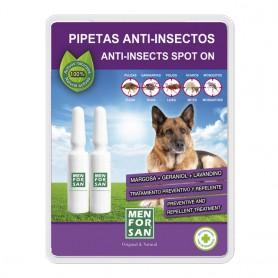 Pipeta anti-insectos para perros con margosa, geraniol y lavandino 60x2uds