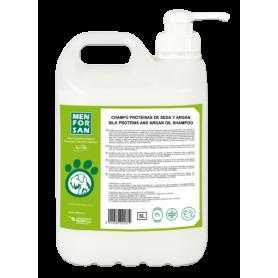 Champú  proteinas de seda y aceite de argán 5L