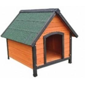Caseta de Madera para Perros Pequeña GUADAIRA (72x76x76)