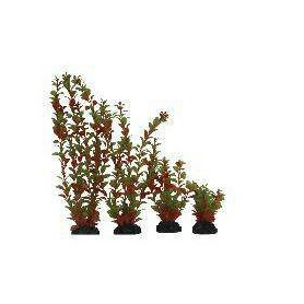 Planta Plástica 10cm Verde/Naranja