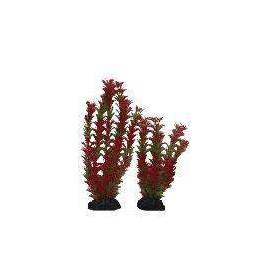 Planta Plástica 20cm Roja/Verde