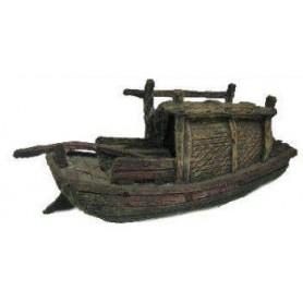 Decoración Barca China de Pesca 17,2x6x8,5cm