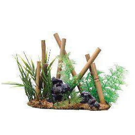 Decoración Bambus con Plantas Surtidas 22x8x17,5cm