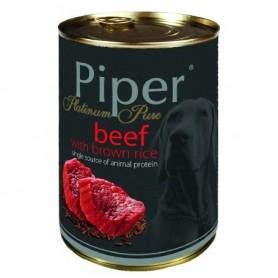 PIPER Monoprotéico - Buey con arroz integral 400gr Lata