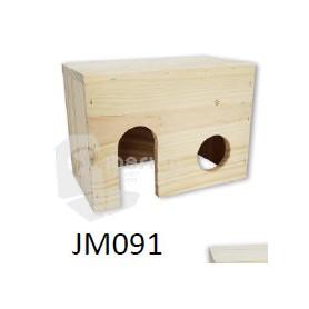 Casa de madera para Roedores Peq. (15x12,5x10)