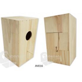 Nido para Pericos Especial Papagayos 25x25x44cm