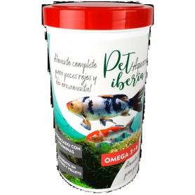 Alimento completo peces rojos y Koi ornamental Acuario (Mix: escamas y pellets) 1200ml 120 grs