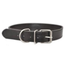 Collar en cuero negro (1,5x35cm) outlet