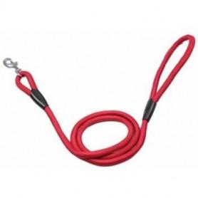 Correa redonda en nylon rojo con mosquetón (1,3x100cm)