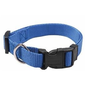 Collar regulable en nylon azul (1x30cm)