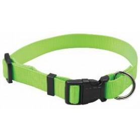 Collar regulable en nylon verde (1x30cm)