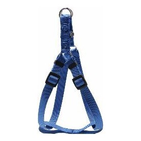 Arnés regulable en nylon azul (M)