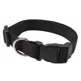 Collar regulable en nylon negro (2x50cm)