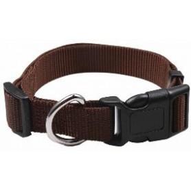 Collar regulable en nylon marrón (2,5x60cm)