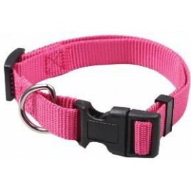 Collar regulable en nylon rosa (1,5x40cm)