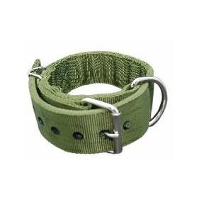 Collar de doble reforzado en nylon verde (5x70cm)