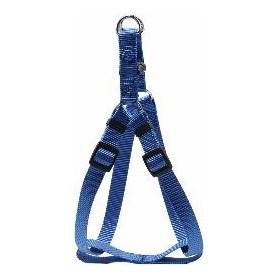Arnés regulable en nylon azul (L)