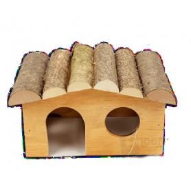 Caseta de madera para roedores 4 lados Small - 19x13x11cm