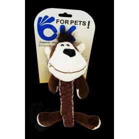 Mono de algodón suave con sonido para perros 31CM