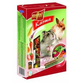 Karma Complementary - Alimento 2en1 de Vegetales y Fruta para Hamster y Conejos 340g