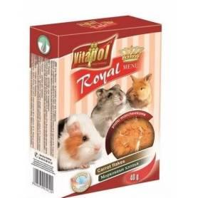 Karma Royal - Copos Extrusionados de Zanahoria para Conejos y Roedores, 40g