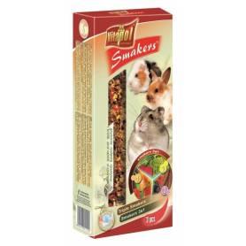 Smakers® - Barritas de Vegetales, Algarroba y Frutas para Conejos y Roedores 3uds, 135g