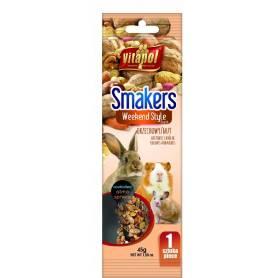 Smakers®Weekend Style - Barrita de Nuez para Conejos y Roedores, 45g
