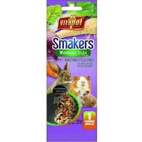 Smakers®Weekend Style - Barrita de Vegetales para Conejos y Roedores, 45g