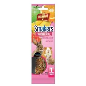 Smakers®Weekend Style - Barrita de Fruta para Conejos y Roedores, 45g