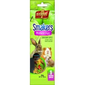 Smakers®Weekend Style - Barrita de Manzana para Conejos y Roedores, 45g