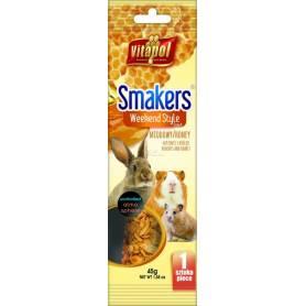 Smakers®Weekend Style - Barrita de Miel para Conejos y Roedores, 45g
