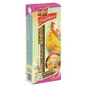 Smakers® - Barritas de Huevo, Miel y Fruta para Canarios, 3uds, 85g
