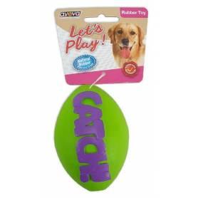 Catch! - Pelota de rugby de goma resistente con aroma a vainilla (S-6,5CM)