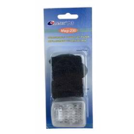Kit de Sustitución de Esponja y Carbón para Filtros (Magic-200)