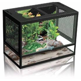 Terrario para pequeños Reptiles con cierre de seguridad y tapa con rendijas43,8x27,8x34cm (PT-400)