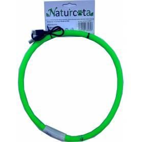 Collar ajustable con luz Verde