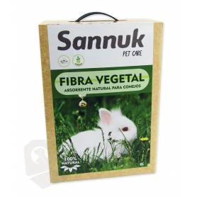 Fibra Vegetal para Conejos 8L (5,5kg) Sannuk