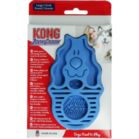 Kong ZoomGroom Cepillo Azul