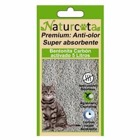 Bentonita Aglomerante Naturcota con Carbón Activado 5L