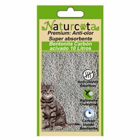 Bentonita Aglomerante Naturcota con carbón activo 10 L