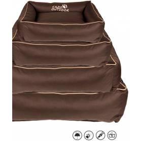 Cama SUPERPREMIUM con cremallera, desenfundable y lavable - Marrón 85 × 65cm