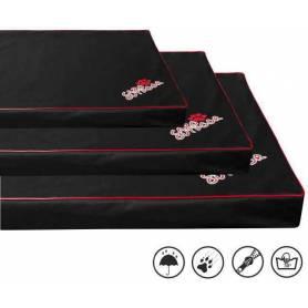 Colchoneta VISCO/ORTHOPEDIC con cremallera, desenfundable y lavable - Negra 9 × 80 × 60cm