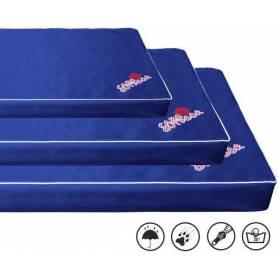 Colchoneta VISCO/ORTHOPEDIC con cremallera, desenfundable y lavable - Azul Marino 9 × 100 × 70cm