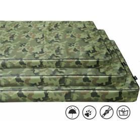 Colchoneta VISCO/ORTHOPEDIC con cremallera, desenfundable y lavable Militar 9 × 80 × 60cm