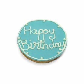 Tarta de cumpleaños Azul 140gr (Vela incluida)