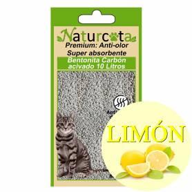 Bentonita Aglomerante Naturcota Limón con carbón activo 10 L