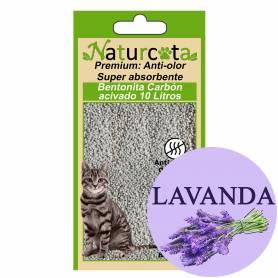 Bentonita Aglomerante Naturcota Lavanda con carbón activo 10 L