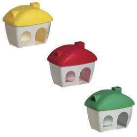 Casa para hamster ovalada plástica colores surtidos OUTLET